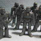 13 Mini Silver Gray Robot Lot - 2 Inch Hollow Plastic