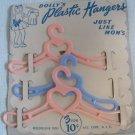 "Vintage Plastic Clothing Hangers 5.5"" MOC Progressive Doll"