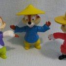 3 Chip N Dale Disney Epcot Figures