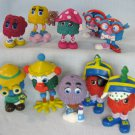 McDonalds Funny Fry Friends Happy Meal Toys 10 Figures Lot