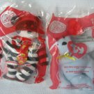 TY Beanie HAMBURGLER #9 Big Red #10 MIP Happy Meal Premium Toy