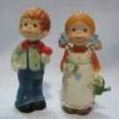 Vintage Pair Boy n Girl Figures Holly Hobby Figurines