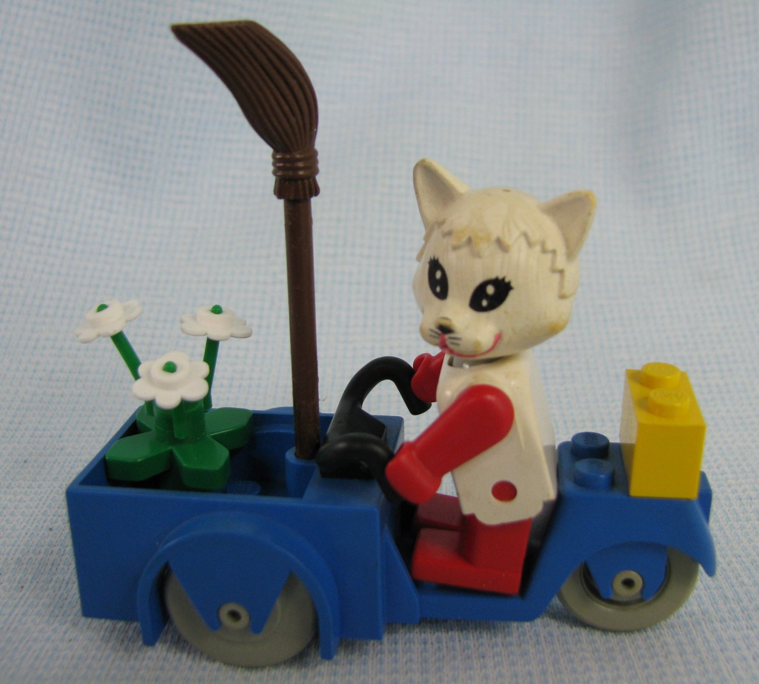 Vintage Lego Fabuland Cat on a Scooter