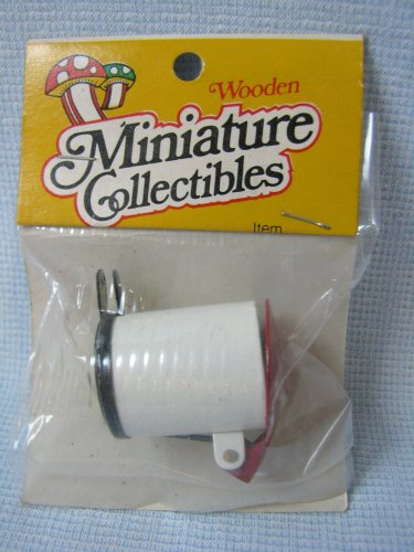 Metal Trash Can w Foot Pedal Dollhouse Miniatures MIP