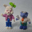 Polly Pocket Bunny Rabbit and Mole Figures 1994 Bluebird Toys