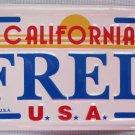 "Vintage California ""FRED"" Mini License Plate Bike Pedal Car"