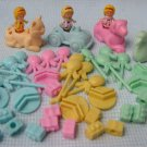 Polly Pocket Party Game Pieces - Dolls Animals Car Balloons
