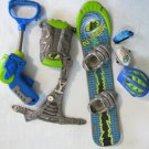 MAX STEEL Tornado Chaser Action Figure Accessories Board Helmet More