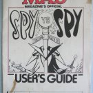 Spy Vs. Spy Mad Magazine's Game Manual Only Commodore Atari