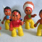Indian Tribe Family 7 Pretend Playset Figures