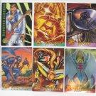 1995 Fleer Marvel 10 X-Men Trading Cards Lot Foil Archangel