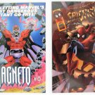 1993 Marvel Magnetto #0 Promo + 1995 Spider-man Direct Edition Comic Trading Cards