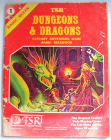 D&D Fantasy Adventure Game Basic Rulebook #1 TSR 1981