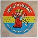 Vintage Dennis The Menace German Measles Promo Sticker