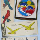 Vintage Window Decals Lot Birds Dolphins G-32 G-34 G-53 Decorcal 1977