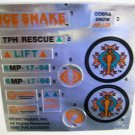 GI Joe Ice Snake Vehicle Replacement Foil Sticker Sheet