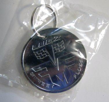 Lugz Silver - STREET FLOSSIN - Tire Rim Keychain Wheel Lug Keyring