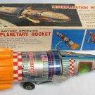 Vintage Interplanetary Rocket BO Tin Litho Toy Yonezawa Japan Boxed and Working!
