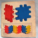 Vintage Wee Waffle Building Blocks Book  Little Tikes Manual