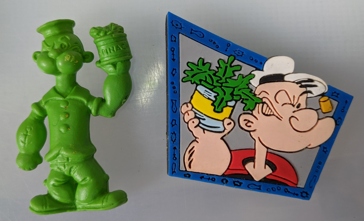Popeye The Sailor Rubber Mini Figure and Magnet