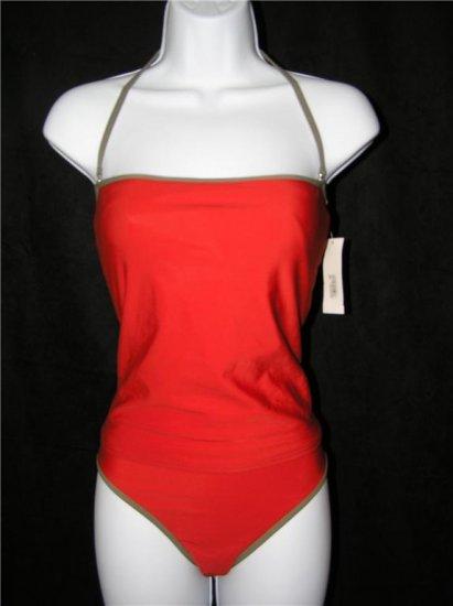 Calvin Klein Bandeau Bikini Swimsuit Poppy