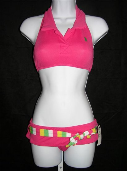 Juicy Couture Halter Polo Skirt Swimsuit (Size M)