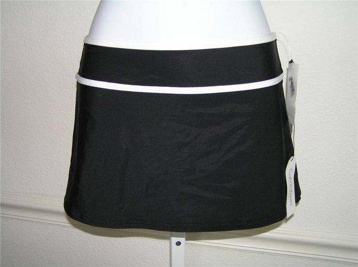 Calvin Klein Black/White Beach Skirt