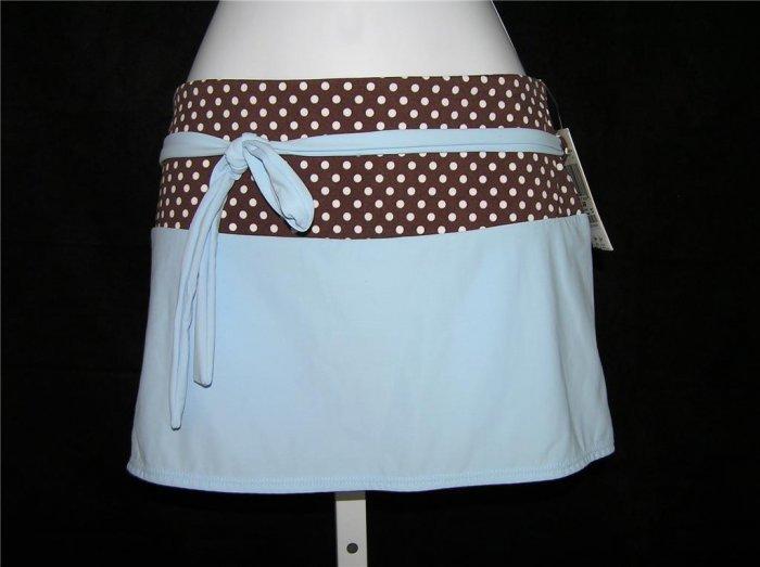 Aqua A-line Mocha/Blue Beach Skirt