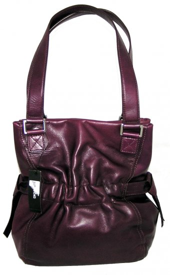 DKNY Donna Karan Antique Rusched Hobo Handbag Bag