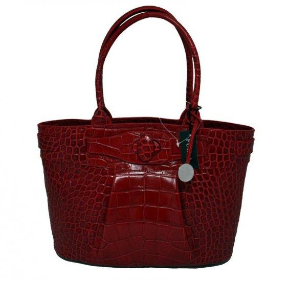 FURLA Katia Shopper Stamped Leather Handbag Bag