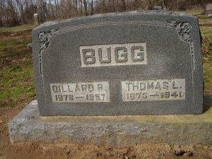 Gravemarker for BUGG, Dillard R. and Thomas L.