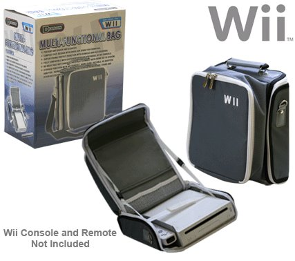 Multi-Functional Carrying Bag for Nintendo Wii
