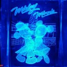 Mickey Minnie Christmas 3D Laser Crystal + Light Stand