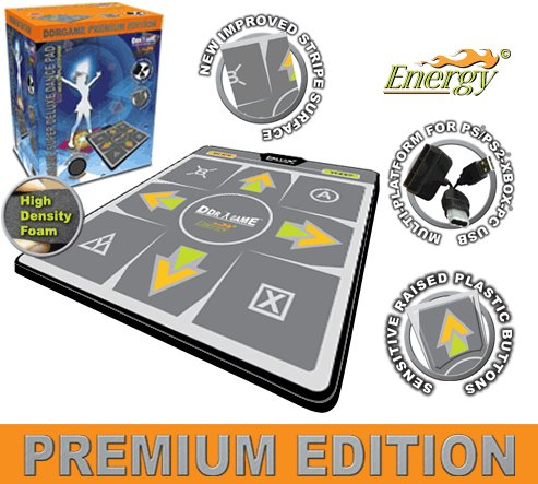 4in1 Energy High Dense Ddr Dance Mat Ps Ps2 Xbox Wii Pc Pad