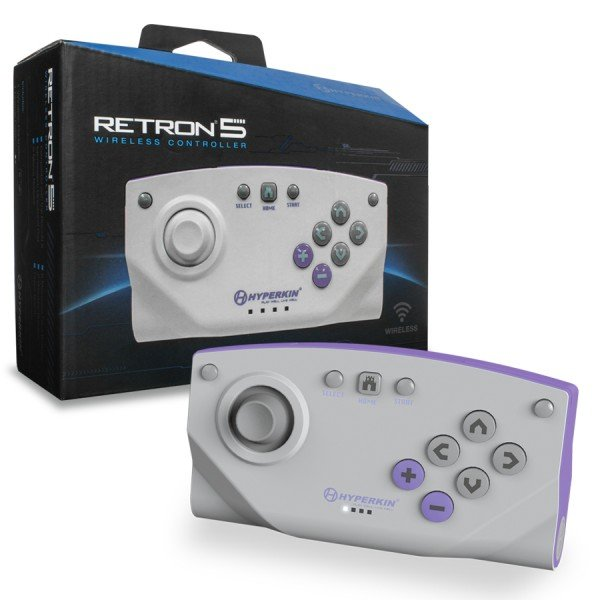 RetroN 5 Bluetooth Wireless Controller (Gray) - Hyperkin