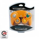 Orange Third Party Classic Gamecube Controller Gamepad for GameCube Wii