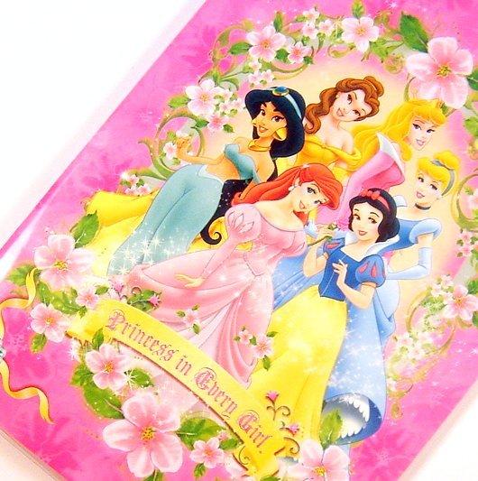 disney PRINCESS pretty note pad small NOTEBOOK pink belle aurora ariel snow white cinderella jasmine