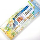 WOLRD OF PETER RABBIT stationery writing GIFT SET mechanical wooden pencil eraser leads cap blue NEW