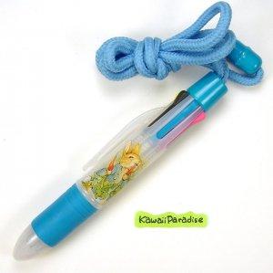 6 colors WORLD OF PETER RABBIT pretty BALL POINT PEN w/ neck strap beatrix potter blue NEW
