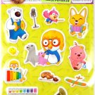 korean anime PORORO PENGUIN super cute CUSHY STICKERS new 2