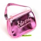 cute METALLIC COIN PURSE mini makeup pouch bag pink