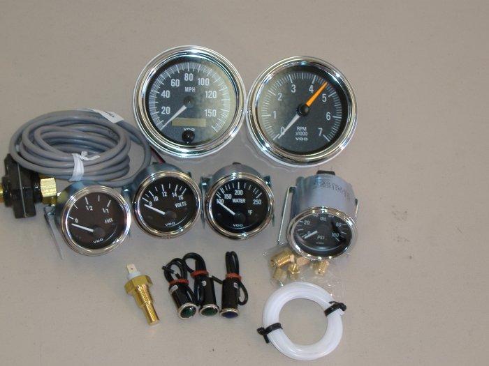 VDO Gauges w/ Indicator Lamp Shelby Cobra Replica