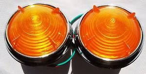 Lights Amber Wing Tip Park Lamp Light Cobra Replica Hot Rod AC ACE Kit Car