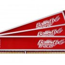 *NEW* CRUCIAL BALLISTIX 6GB (3x2GB) RED TRACER with LEDs DDR3 1600 (PC3-12800) - WORLDWIDE SHIP!