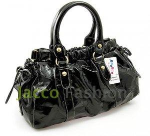 Bibu PU Series Leather Hobo Sling Shoulder Bag BIBU1212BK