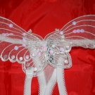 Crotchless Butterfly G-String White