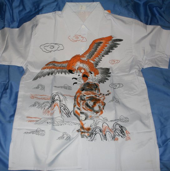 Mens shirt with Eagle and Tiger Print