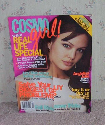 Cosmo Girl Magazine October 2004 Angelina Jolie