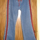 Sz 9/10 Cute Flare Jeans with red tie