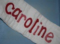 custom applique burp cloth